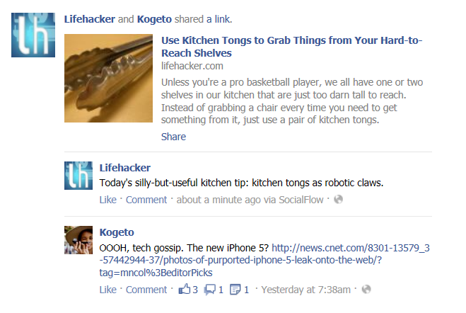 Facebook Shared Link Algorithm Fail