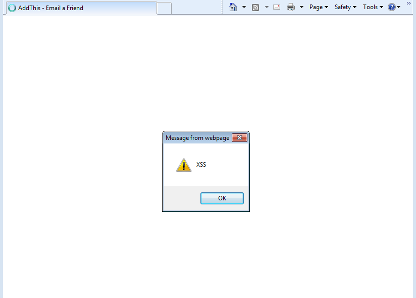 Internet Explorer (IE) XSS Execution